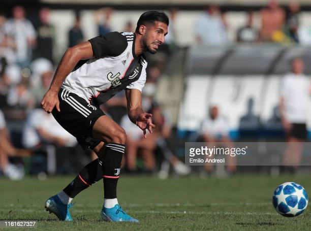 Emre Can of Juventus in action during the Preseason Friendly match betewwen Juventus A v Juventus B on August 14 2019 in Villar Perosa near Turin...