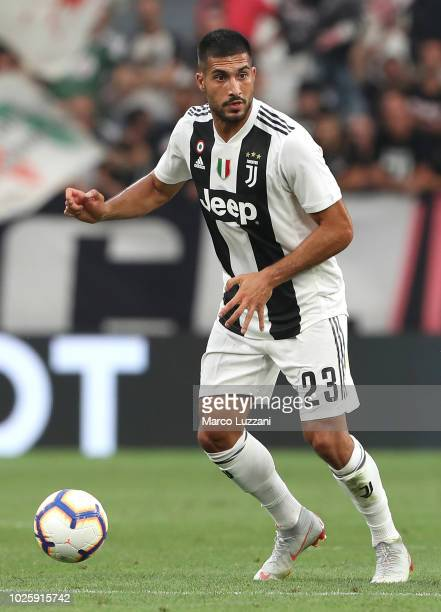 Emre Can of Juventus in action during the Serie A match between Juventus and SS Lazio at Allianz Stadium on August 25 2018 in Turin Italy