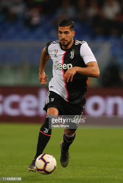 Emre Can of Juventus in action during the Serie A match between AS Roma and Juventus at Stadio Olimpico on May 12 2019 in Rome Italy