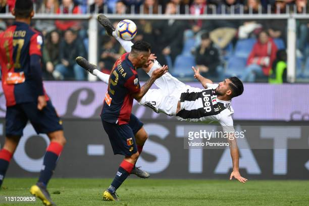 Emre Can of Juventus in action during the Serie A match between Genoa CFC and Juventus at Stadio Luigi Ferraris on March 17 2019 in Genoa Italy