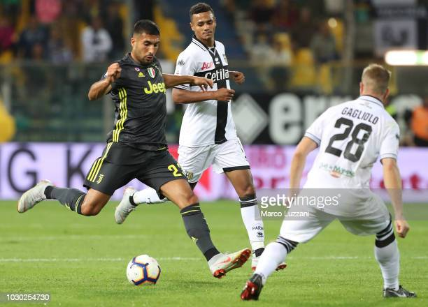 Emre Can of Juventus in action during the serie A match between Parma Calcio and Juventus at Stadio Ennio Tardini on September 1 2018 in Parma Italy
