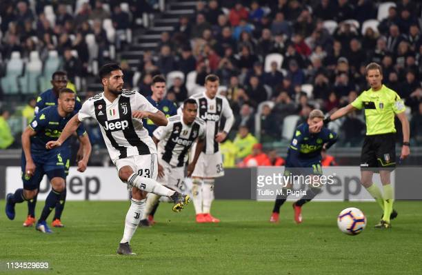Emre Can of Juventus scores a penalty during the Serie A match between Juventus and Udinese at Allianz Stadium on March 08 2019 in Turin Italy