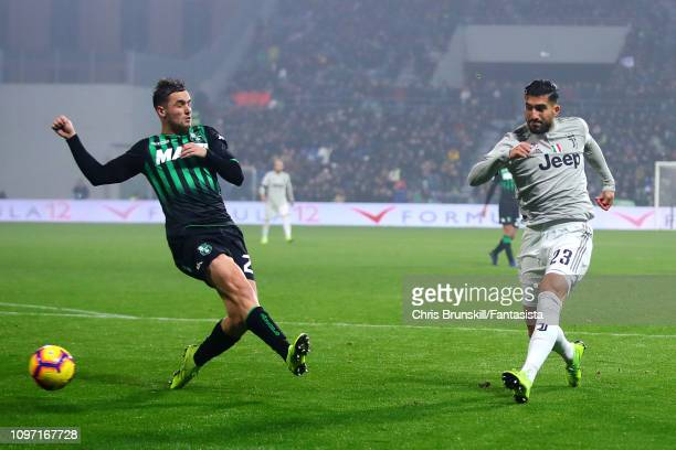 Emre Can of Juventus scores his side's third goal during the Serie A match between US Sassuolo and Juventus at Mapei Stadium Citta' del Tricolore on...
