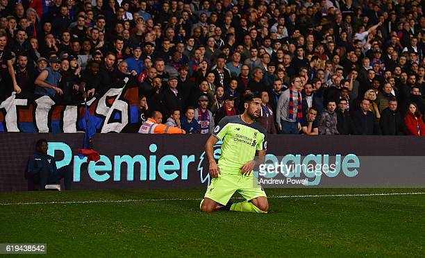 Emre Can of Liverpool celebrates after scoring the opening goal during the Premier League match between Crystal Palace and Liverpool at Selhurst Park...