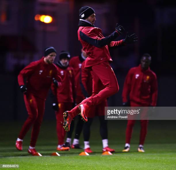 Emre Can of Liverpool during a training session at Melwood Training Ground on December 15 2017 in Liverpool England