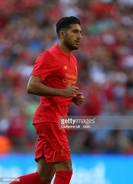 Emre Can of Liverpool during the International Champions Cup 2016 match between Liverpool and Barcelona at Wembley Stadium on August 6 2016 in London...