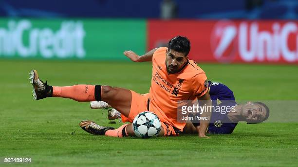 Emre Can of Liverpool during the UEFA Champions League group E match between NK Maribor and Liverpool FC at Stadion Ljudski vrt on October 17 2017 in...