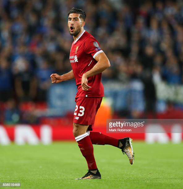 Emre Can of Liverpool during the UEFA Champions League Qualifying PlayOffs round second leg match between Liverpool FC and 1899 Hoffenheim at Anfield...
