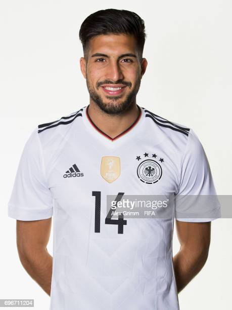 Emre Can poses for a picture during the Germany team portrait session on June 16 2017 in Sochi Russia