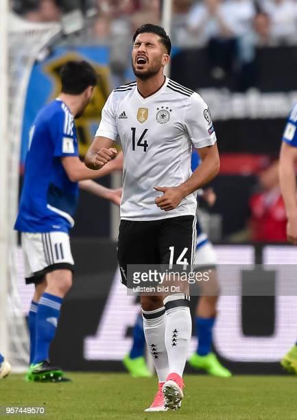 Emre Can reagiert nach einem vergebenen Torschuss waehrend dem FIFA WM Qualifikationsspiel Deutschland gegen San Marino in der Gruppe C am 10 Juni...