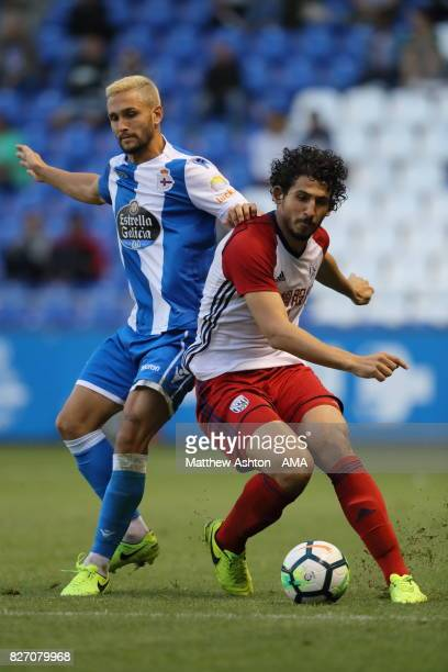 Emre Colak of Deportivo de La Coruna and Ahmed Hegazy of West Bromwich Albion during the PreSeason Friendly between Deportivo de La Coruna and West...