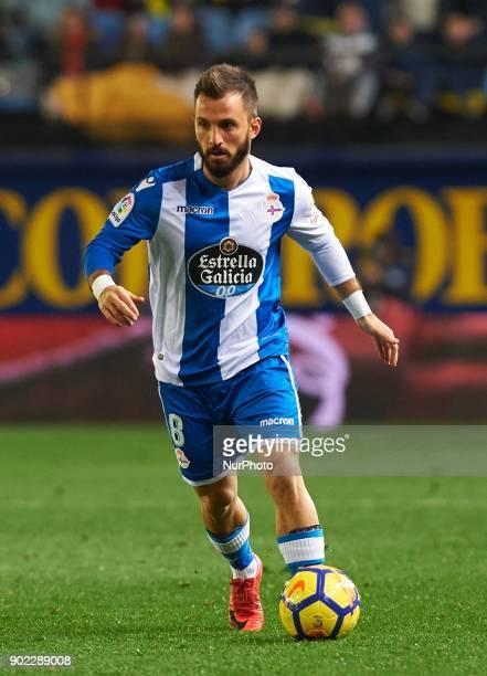 Emre Colak of Deportivo de la Coruna during the La Liga match between Villarreal CF and Deportivo de la Coruna at Estadio de la Ceramica on jenuary 7...