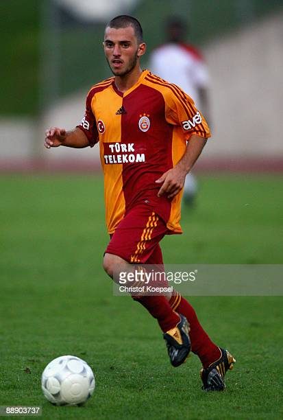 Emre Colak of Galatasaray runs with the ball during the Zayon Cup match between Galatasaray Istanbuch and Wydad AC Casablanca at the Lorheide stadium...