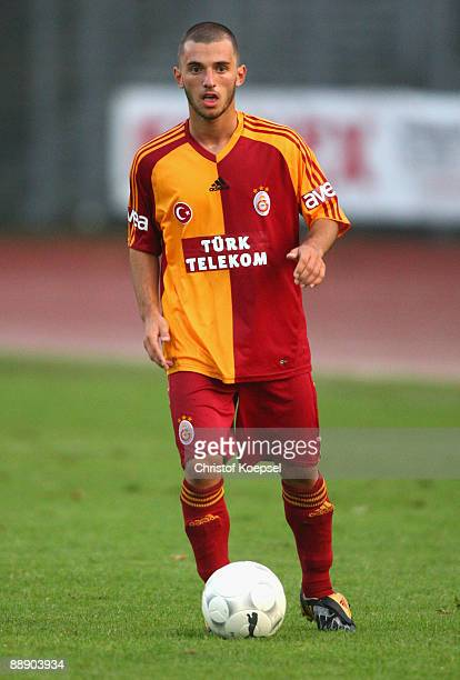 Emre Colak of Galatasaray runs with the ball during the Zayon Cup match between Galatasaray Istanbul and Wydad AC Casablanca at the Lorheide stadium...