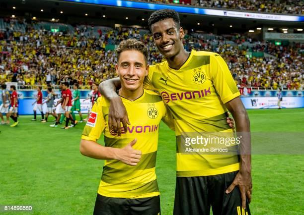 Emre Mor and Alexander Isak of Borussia Dortmund during the preseason friendly match between Urawa Red Diamonds and Borussia Dortmund at Saitama...