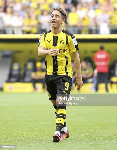 Emre Mor of Borussia Dortmund attends the season opening and public training session in the Signal Iduna Park in Dortmund Germany on August 13 2016