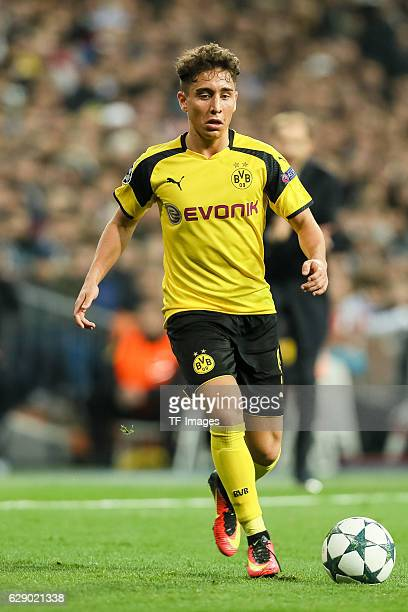 Emre Mor of Borussia Dortmund in action during the UEFA Champions League match between Real Madrid CF and Borussia Dortmund at Bernabeu on December 7...