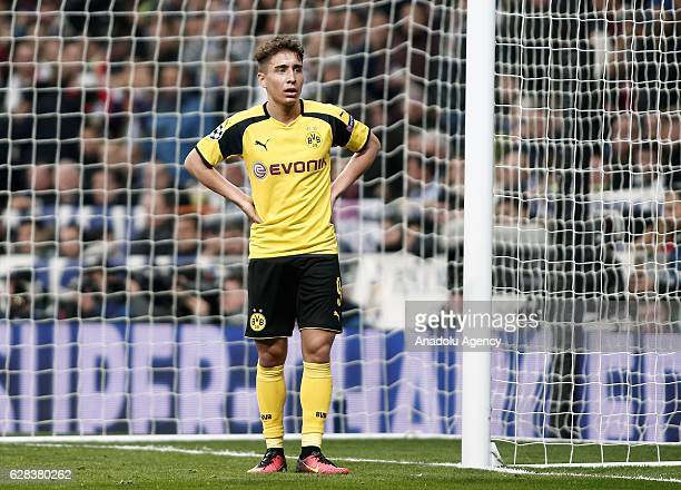 Emre Mor of Borussia Dortmund is seen during the UEFA Champions League Group F football match between Real Madrid and Borussia Dortmund at Santiago...