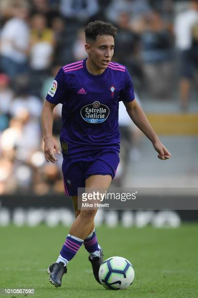 Emre Mor of Celta Vigo in action during a PreSeason Friendly between Fulham and Celta Vigo at Craven Cottage on August 4 2018 in London England