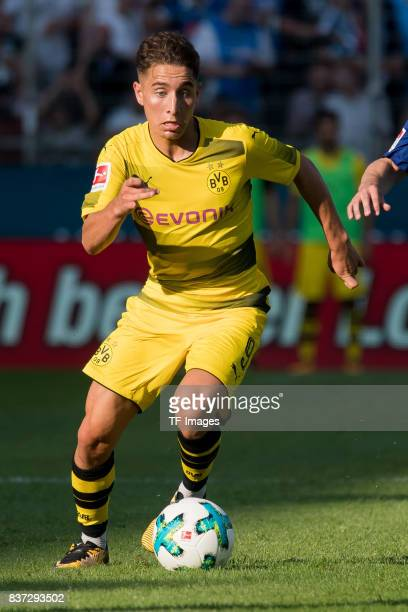Emre Mor of Dortmund controls the ball during the preseason friendly match between VfL Bochum and Borussia Dortmund at Vonovia Ruhrstadion on July 22...