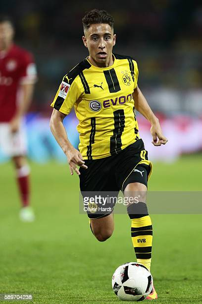 Emre Mor of Dortmund in acion during DFL Supercup 2016 match between Borussia Dortmund and FC Bayern Muenchen at Signal Iduna Park on August 14 2016...