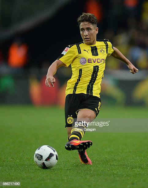 Emre Mor of Dortmund in action during the friendly match between AFC Sunderland v Borussia Dortmund at Cashpoint Arena on August 5 2016 in Altach...