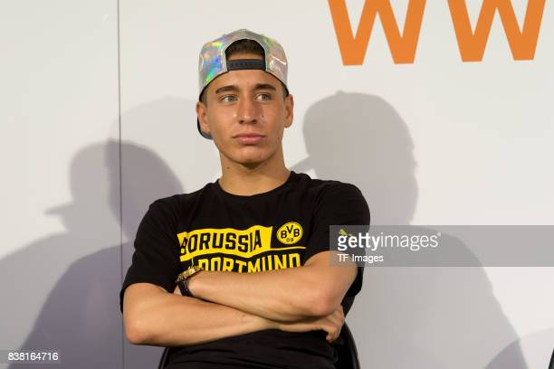 Emre Mor of Dortmund looks on during a friendly match between Borussia Dortmund and Atalanta Bergamo as part of the training camp on August 01 2017...