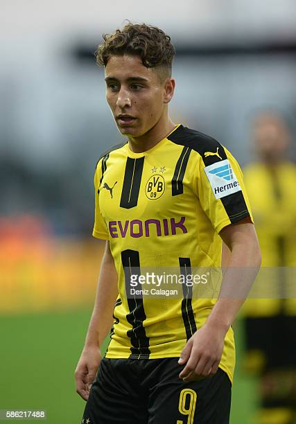 Emre Mor of Dortmund looks on during the friendly match between AFC Sunderland v Borussia Dortmund at Cashpoint Arena on August 5 2016 in Altach...