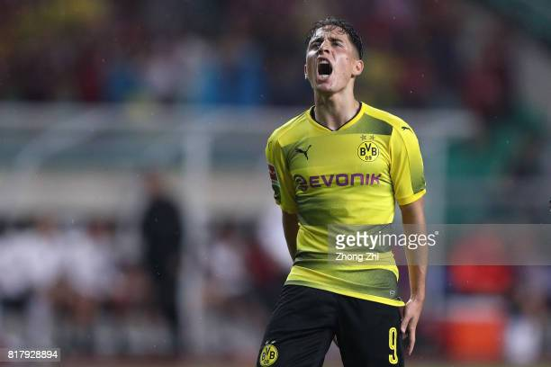 Emre Mor of Dortmund reacts during the 2017 International Champions Cup football match between AC Milan and Borussia Dortmund at University Town...
