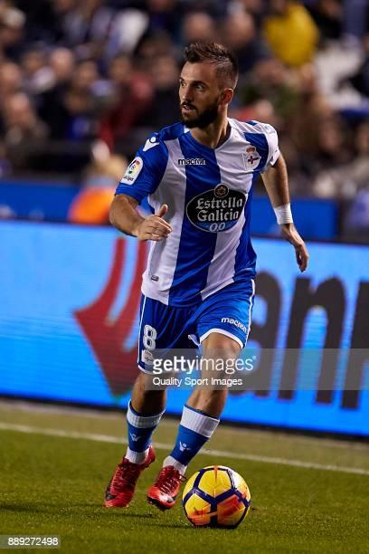Emre Çolak of Deportivo de La Coruna in action during the La Liga match between Deportivo La Coruna and Leganes at Abanca Riazor Stadium on December...