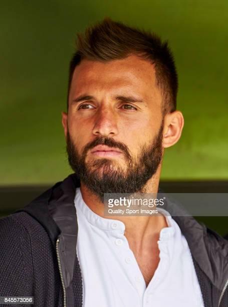 Emre Çolak of Deportivo de La Coruna looks on prior to the La Liga match between Deportivo La Coruna and Real Sociedad at Riazor Abanca Stadium on...