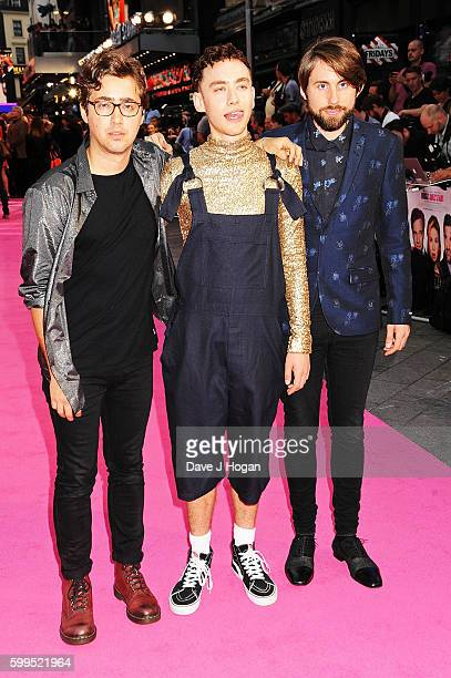 Emre Turkmen Olly Alexander and Mikey Goldsworthy of Years Years arrive for the world premiere of 'Bridget Jones's Baby' at Odeon Leicester Square on...