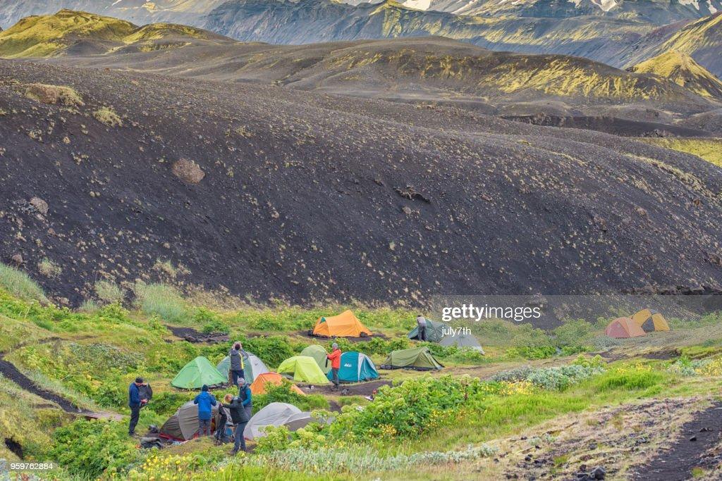 Emstrur Campingplatz in Island : Stock-Foto