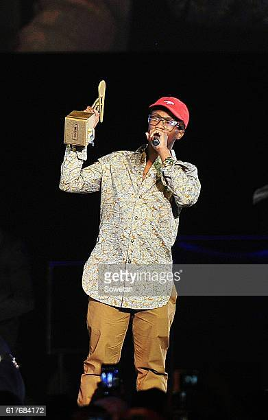 Emtee during the 2016 MTV Africa Music Awards at the Ticketpro Dome on October 22 2016 in Johannesburg South Africa MTV Africa Music Awards is the...