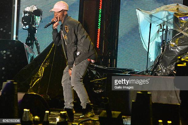 Emtee performs during the 7th annual Maftown Heights 2016 concert at the Mary Fritzgerald Square on November 25 2016 in Johannesburg South Africa...