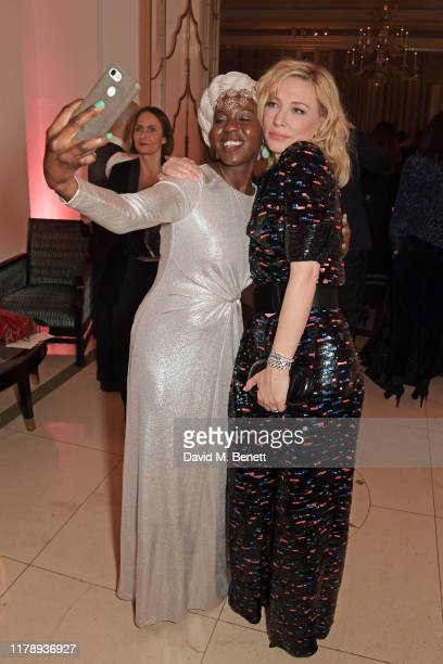 Emtithal Mahmoud and Cate Blanchett, winner Of The Philanthropy Award, attend the Harper's Bazaar Women of the Year Awards 2019, in partnership with...
