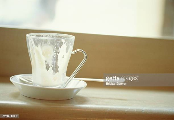 A emty cup of coffee