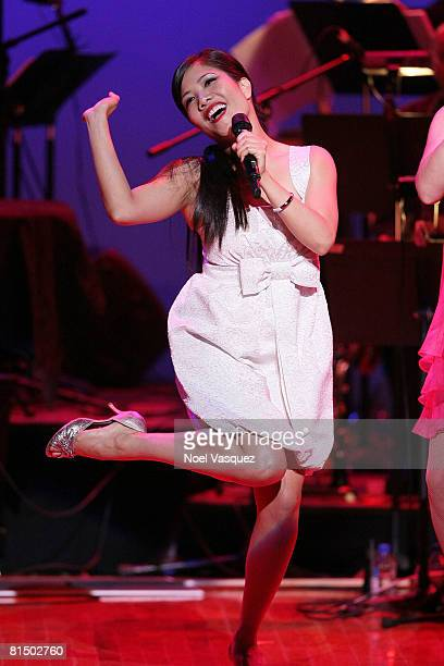 Emy Coligado performs at the 6th annual 'What a Pair' concert at the Orpheum Theatre on June 8 2008 in Los Angeles California