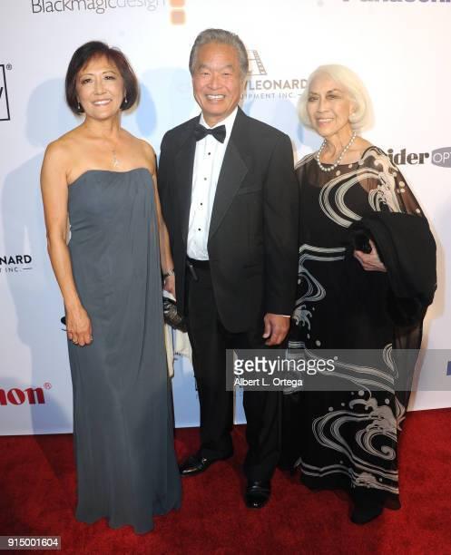 Emy Sakamoto Nolan Maehara and Sandy Sakamoto arrive for Society of Camera Operators Lifetime Achievement Awards held at Loews Hollywood Hotel on...