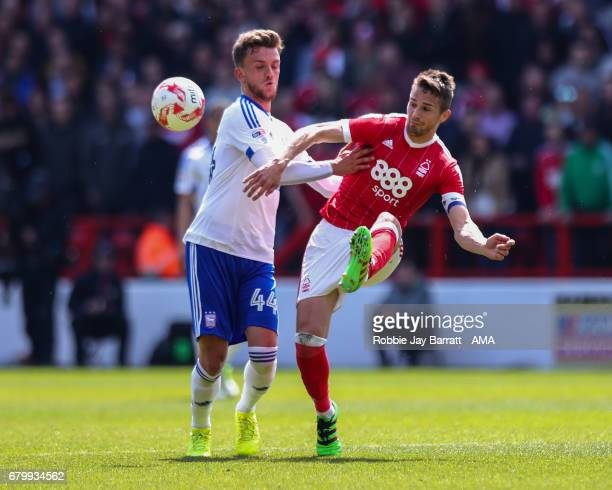 Emyr Huws of Ipswich Town and Chris Cohen of Nottingham Forest during the Sky Bet Championship match between Nottingham Forest and Ipswich Town at...