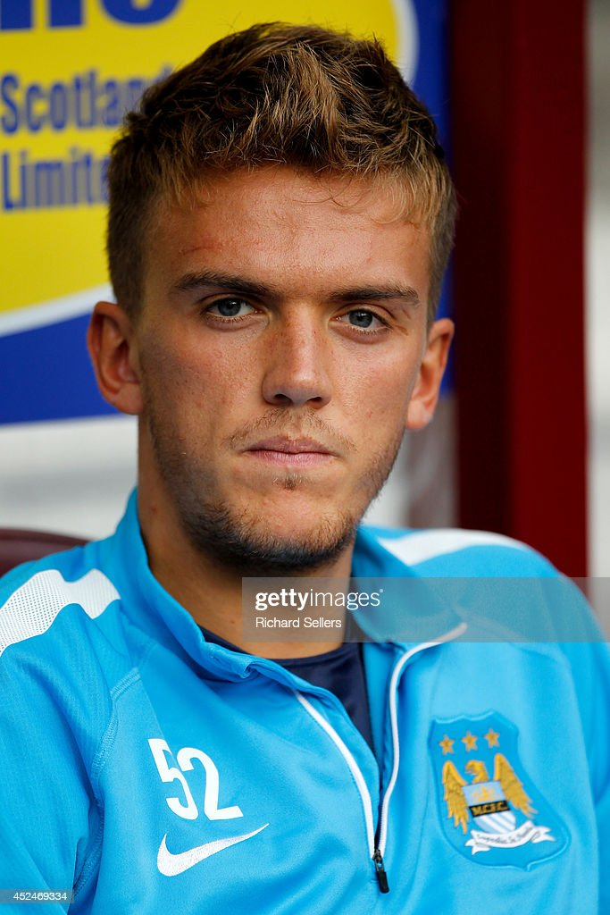 Emyr Huws of Manchester City before the pre-season friendly at Tynecastle Stadium on July 18, 2014 in Edinburgh, Scotland.