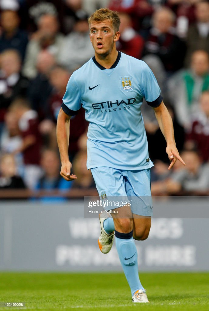 Emyr Huws of Manchester City in action during the pre-season friendly at Tynecastle Stadium on July 18, 2014 in Edinburgh, Scotland.