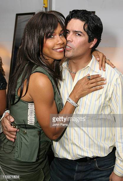 En Vogue and Esai Morales during Best Buddies 9th Annual Miami Beach Gala 'Havana Nights' Inside and Backstage at Star Island in Miami Beach Florida...