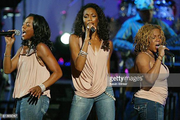 En Vogue performs on stage at the 5th Annual Women Rock Lifetime Television's fifth annual signature concert for the fight against breast cancer held...