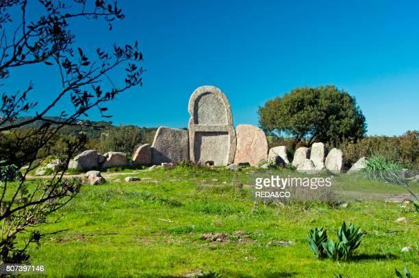S' Ena e Thomes Tomba dei Giganti old nuragic grave Dorgali Sardinia Italy