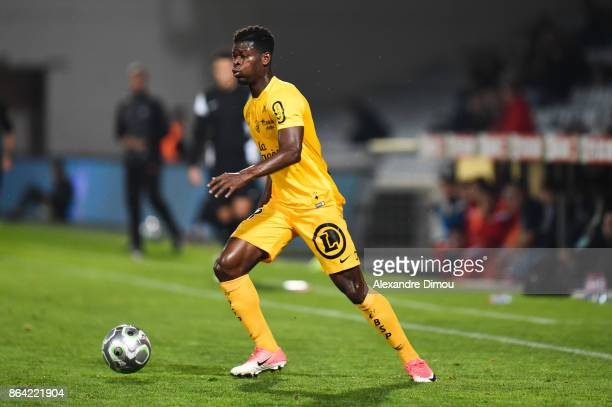 Enagnon Kiki of Brest during the Ligue 2 match between Nimes Olympique and Stade Brestois at on October 20 2017 in Nimes France