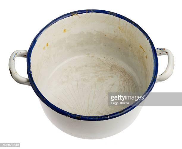 enamelled metal dish with handles