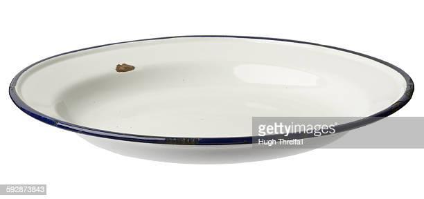 enamelled metal plate