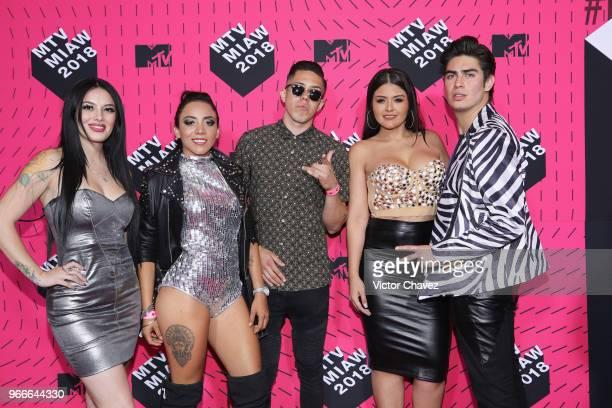 Enamorandonos cast members attend the MTV MIAW Awards 2018 at Arena Ciudad de Mexico on June 2 2018 in Mexico City Mexico