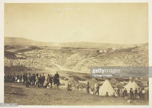 Encampment of Horse Artillery, 1855. A work made of salted paper print, from the album 'photographic pictures of the seat of war in the crimea' ....